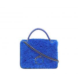 Borsa Frasette in pelle azzurra e blu