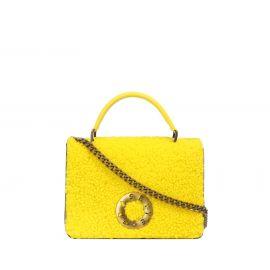 Borsa Frasette in pelle gialla
