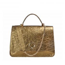 Borsa Frasette in pelle oro