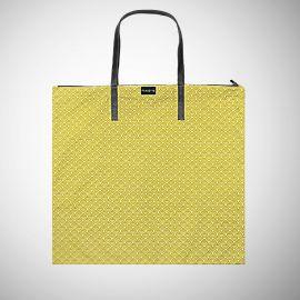 Shopping Bag Frasette in cotone giallo stampato
