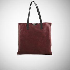 Shopping Bag Frasette in pelle bordeaux