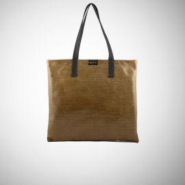 Shopping Bag Frasette in pelle nocciola