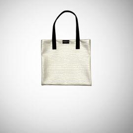 Shopping Bag Frasette in rafia ghiaccio a righe bordeaux