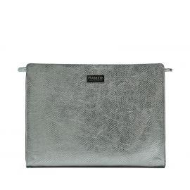 Work Bag Frasette in pelle argento