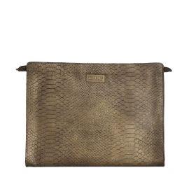Work Bag Frasette in pelle bronzo